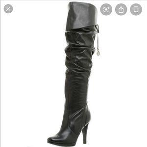 Jessica Simpson Joshua Black Leather Boots